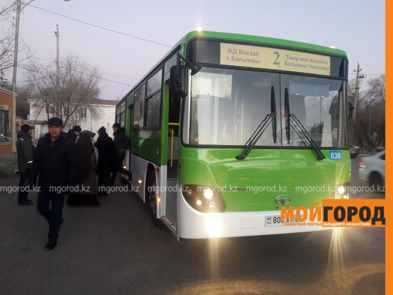 Новости - В Атырау обновили очередной автобусный маршрут