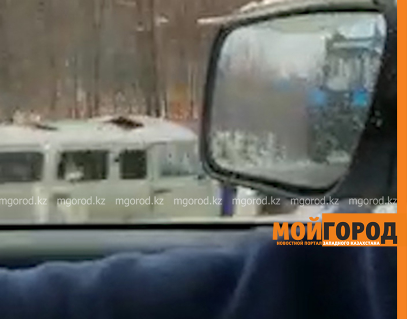 Трал с легковыми автомобилями слетел с дороги в ЗКО (видео)
