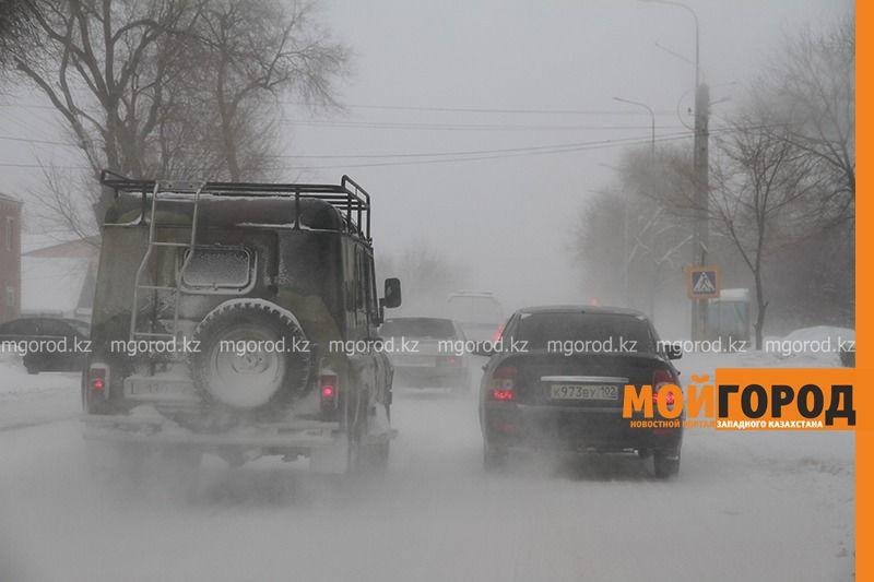 На ЗКО обрушилась сильная метель (фото)