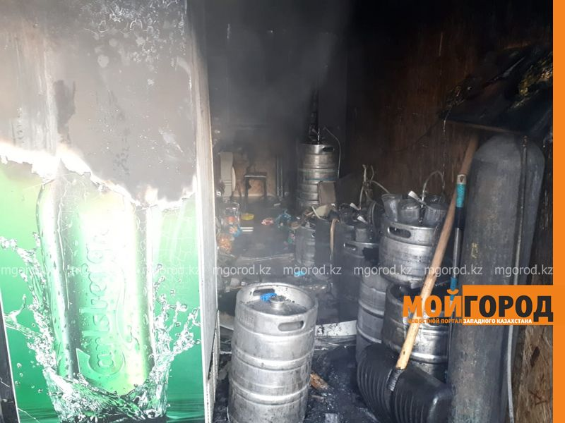 Пивной ларек горел в Уральске