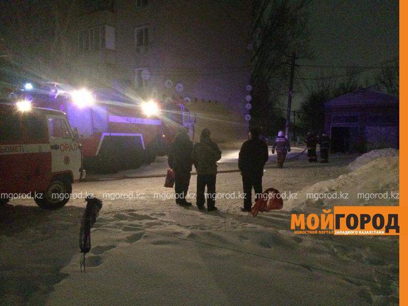 В Уральске горел трансформатор