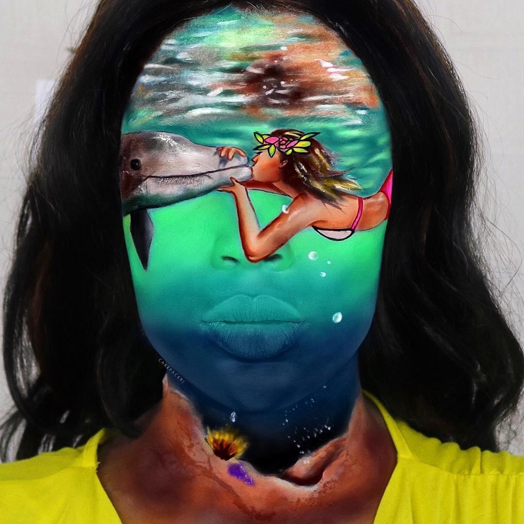 Новости Актау - Она сама рисует на своем лице - впечатляющие работы от визажиста самоучки.