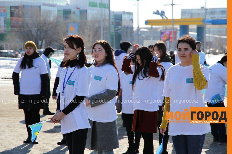 Молождежь ЗКО выразила благодарность первому президенту РК