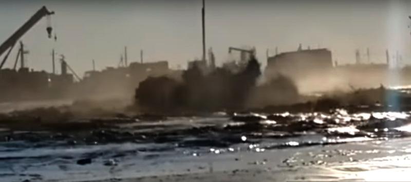 Новости - На месторождении Каламкас произошла авария с возгоранием (видео)