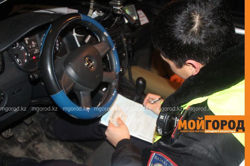 Шесть пьяных водителей задержали в Атырау