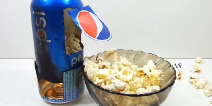 Новости PRO Ремонт - Домашний попкорн из пивной банки
