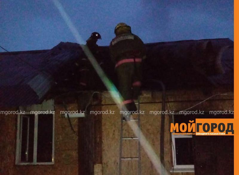 Двухквартирный жилой дом горел в Уральске