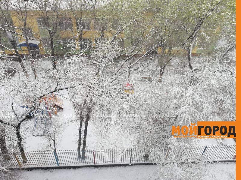 Новости Атырау - Атырау накрыло снегом: в школах отменены занятия (фото, видео)