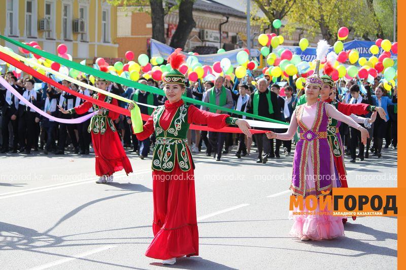50 тысяч человек приняли участие в первомайском шествии в Уральске