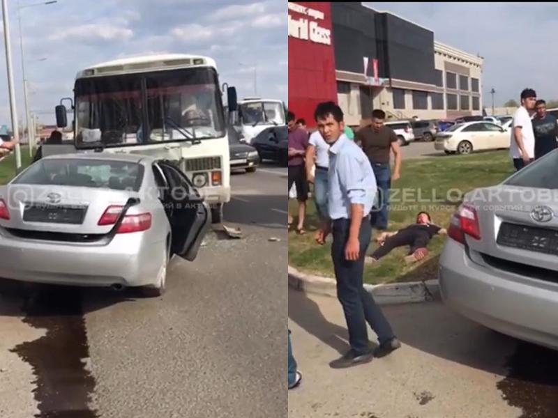 Новости Актобе - В Актобе подросток на Toyota Camry совершил ДТП