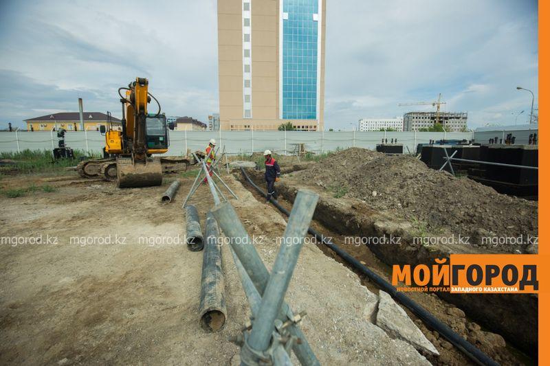 Новости Атырау - В Атырау строится площадь государственных символов и 91-метровый флагшток