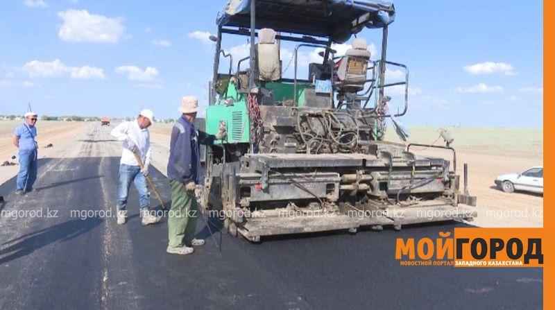 В Сырымском районе отремонтировали подъездную дорогу к селу Алгабас