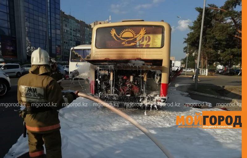 Новости Уральск - Автобус с пассажирами загорелся в Уральске