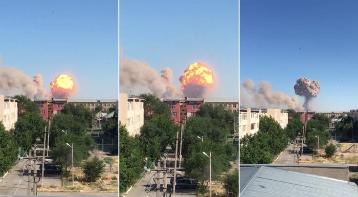 Новости - Жителей города Арысь эвакуируют после взрыва на территории воинской части