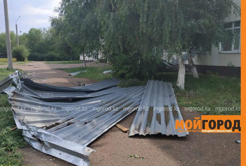 Новости Уральск - Ветром сорвало кровлю в школе ЗКО (фото)