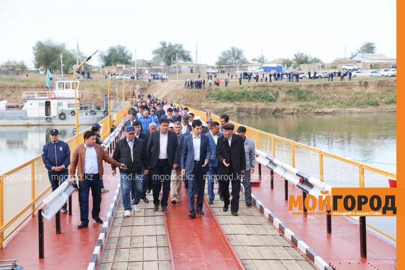Новости Уральск - В ЗКО открыли понтонный мост через Урал