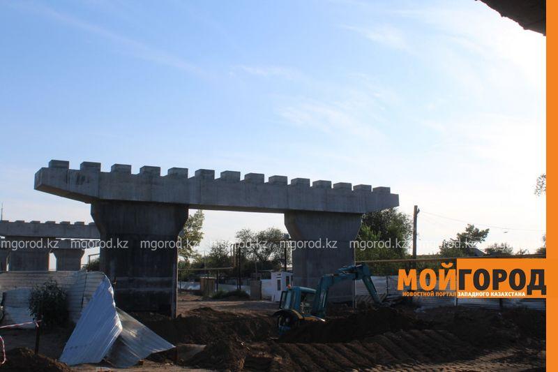 На 50% завершена реконструкция путепровода в районе Нефтебазы в Уральске