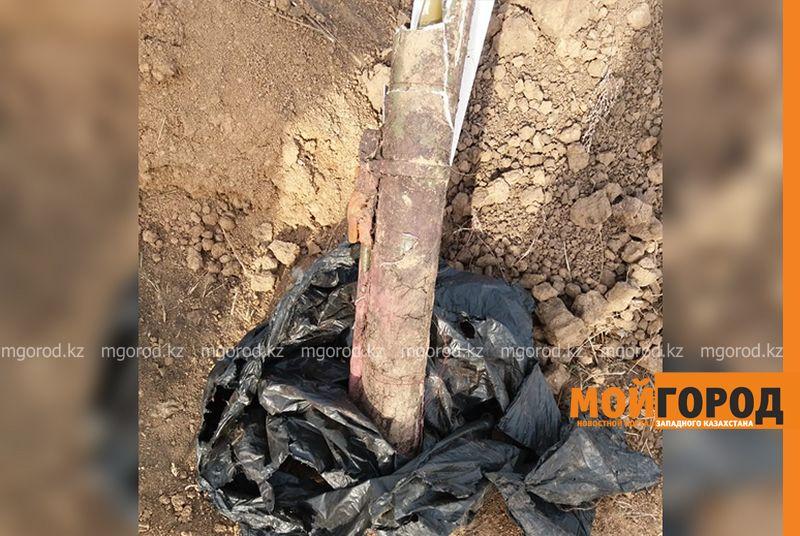 Житель ЗКО нашел снаряд на стройке