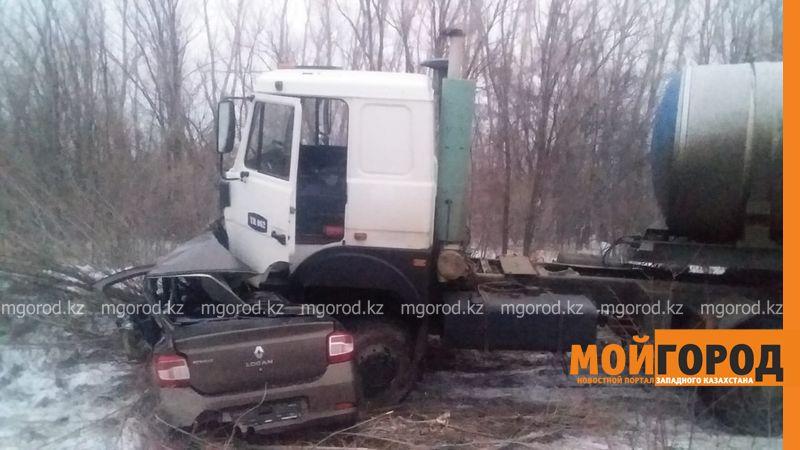 "Водитель ""Рено"" погиб после столкновения с МАЗом (фото)"