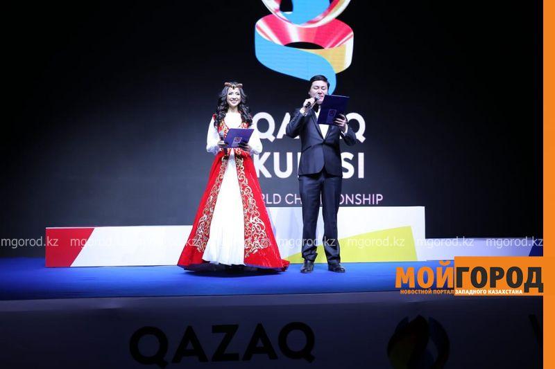 Первую золотую медаль завоевала сборная Казахстана на чемпионате мира по Qazaq Kuresi