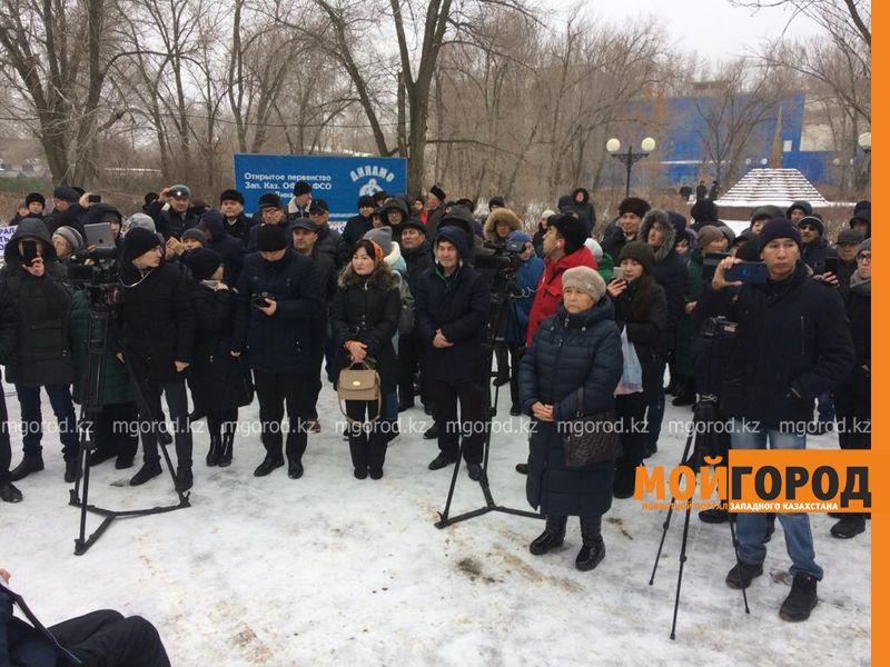 В Уральске прошел митинг против повышения цен на продукты и тарифов на комуслуги