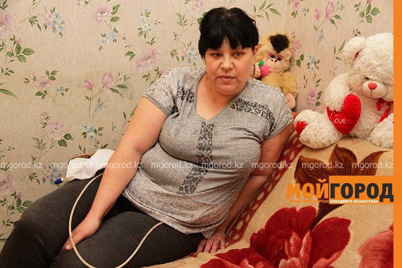 Я при детях не плачу — больная раком жительница Уральска (фото)