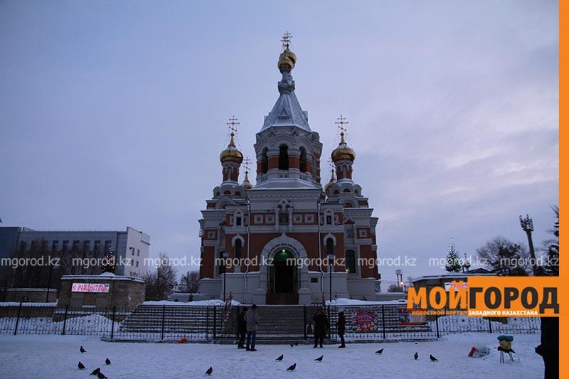 Православные христиане Уральска отмечают Рождество