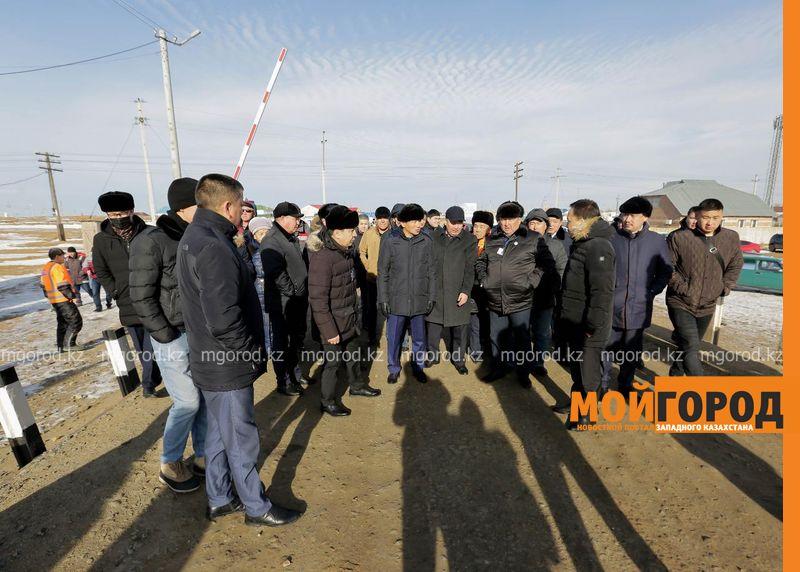 Новости Атырау - Строительство пешеходного моста в Атырауской области взял на контроль первый зампред партии «Nur Otan»