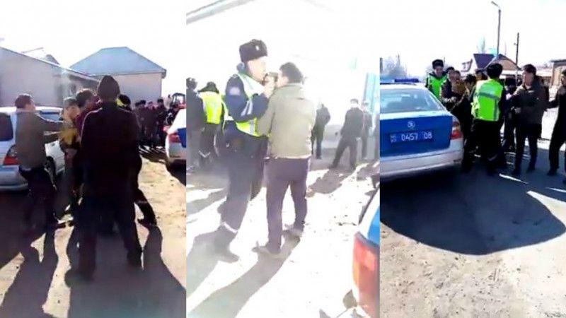 Нападение на полицейских произошло рядом с селом Масанчи (видео)