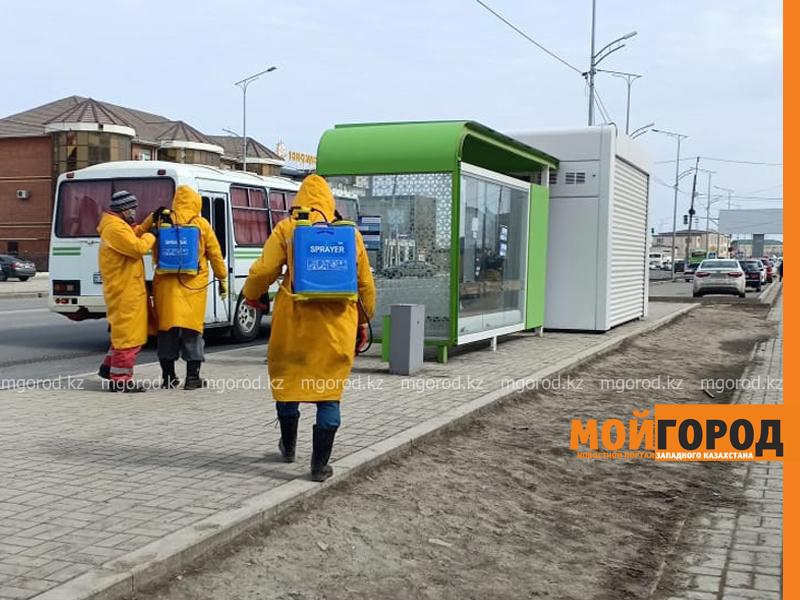 В Атырау дезинфицируют городские остановки В Атырау дезинфицируют городские остановки