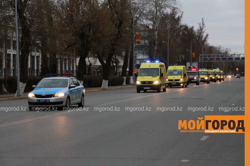 Мобильные бригады будут оказывать помощь пациентам с бессимптомным течением СOVID-19 Скорая помощь провела флешмоб в Уральске