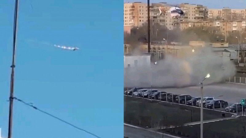 Истребитель разбился вблизи Караганды (видео) Истребитель разбился вблизи Караганды