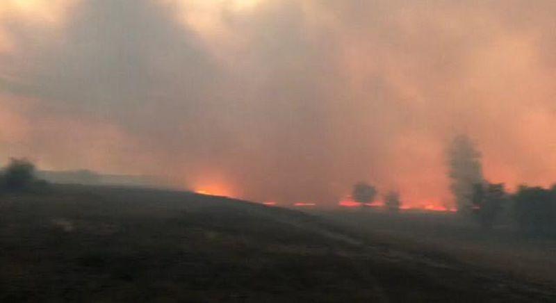 Степной пожар достиг села в ЗКО, горят дома (видео) Степной пожар достиг села в ЗКО, горят дома (видео)