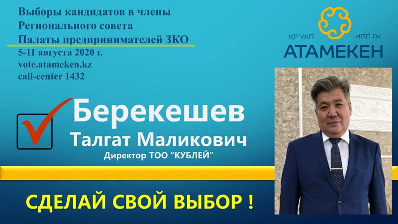 Предвыборная кампания Берекешева Т.М. Предвыборная компания Берекешева Т.М.