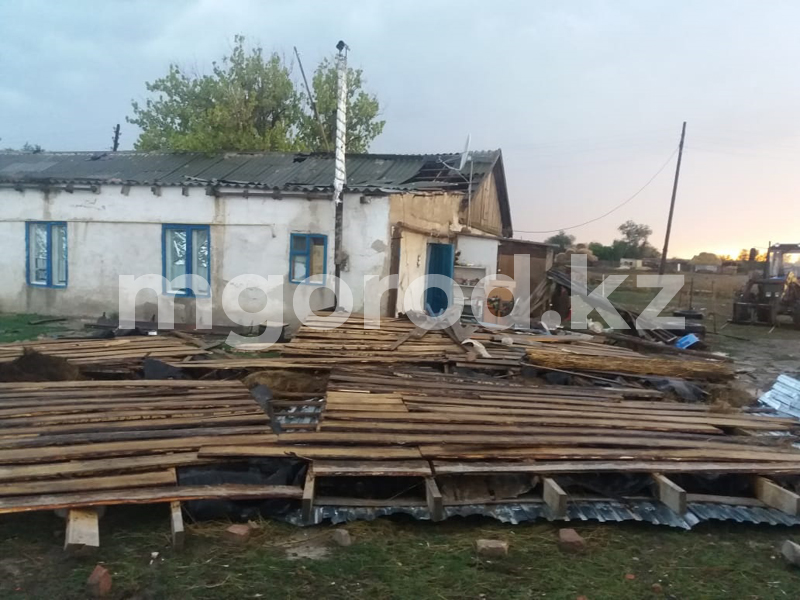 В ЗКО ураганный ветер повалил деревья и оставил без кровли жилые дома и детсад В ЗКО ураганный ветер повалил деревья и оставил без кровли жилые дома и детсад
