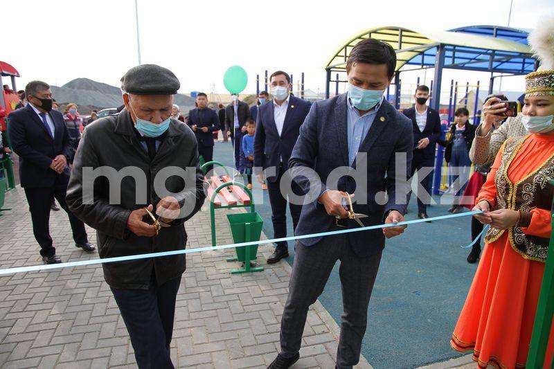 Сразу две спортивные площадки открыли в Уральске ко Дню города Сразу две спортивные площадки открыли в Уральске ко Дню города