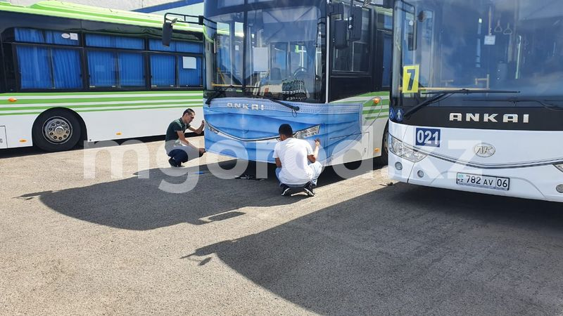В Атырау на автобусы надели маски В Атырау на автобусы надели маски