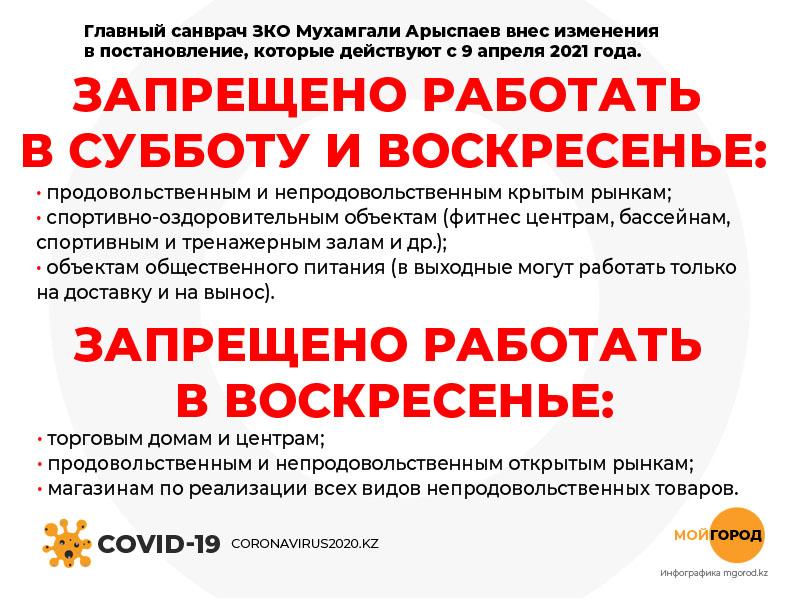 Какие объекты не будут работать в выходные в Уральске Какие объекты не будут работать в выходные в Уральске