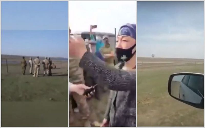 Сельчане выступили против установки ограждения на границеАтырауской и Астраханской областей (видео) Сельчане выступили против установки ограждения на границеАтырауской и Астраханской областей