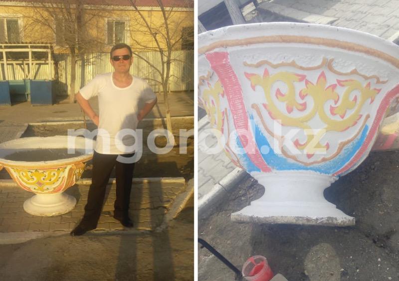 Осужденный за кражу художник в Атырау украшает двор Центра ресоциализации Осужденный за кражу художник в Атырау украшает двор Центра ресоциализации