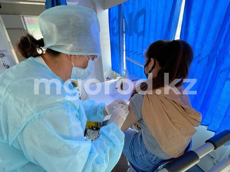 58,6% от подлежащего вакцинации населения ЗКО получили прививку против COVID-19 Уральцев вакцинируют от коронавируса в автобусах (фото)