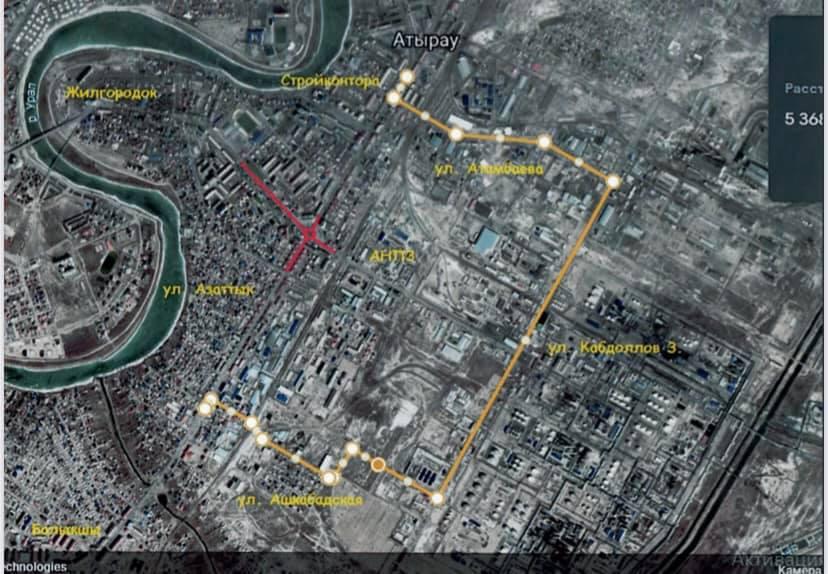 В Атырау временно изменят схему движения автобусов В Атырау временно изменят схему движения автобусов