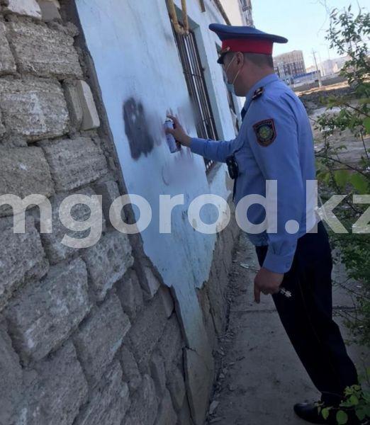 Атырауские полицейские и волонтеры уничтожили граффити с рекламой наркотиков Атырауские полицейские и волонтеры уничтожили граффити с рекламой наркотиков