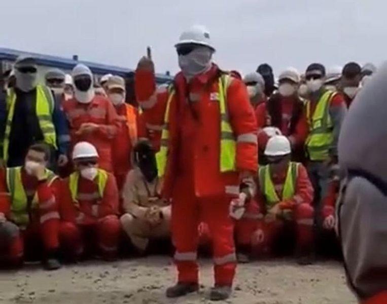 На Тенгизе бастуют рабочие «Казстройсервиса» На Тенгизе бастуют рабочие «Казстройсервиса»