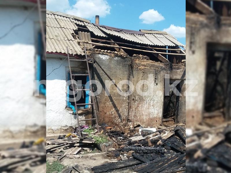 Жительница ЗКО осталась без дома после пожара Жительница ЗКО осталась без дома после пожара