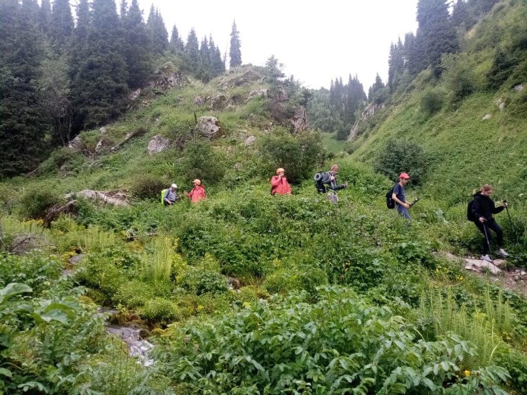 Троих туристов спасли в горах Алматы Троих туристов спасли в горах Алматы
