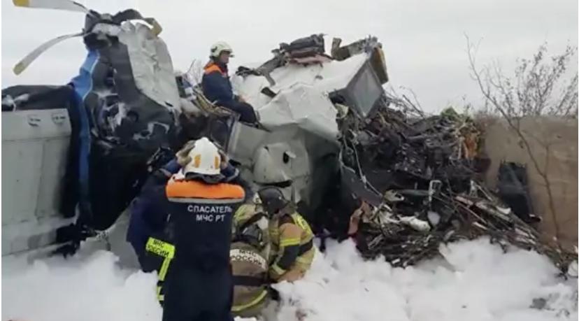 При падении самолёта в Татарстане погибли 16 человек При падении самолёта в Татарстане погибли 16 человек